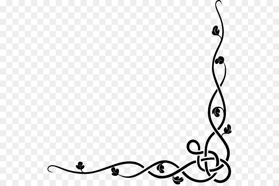 Border Design Black And White Clipart Paper Design White Transparent Clip Art