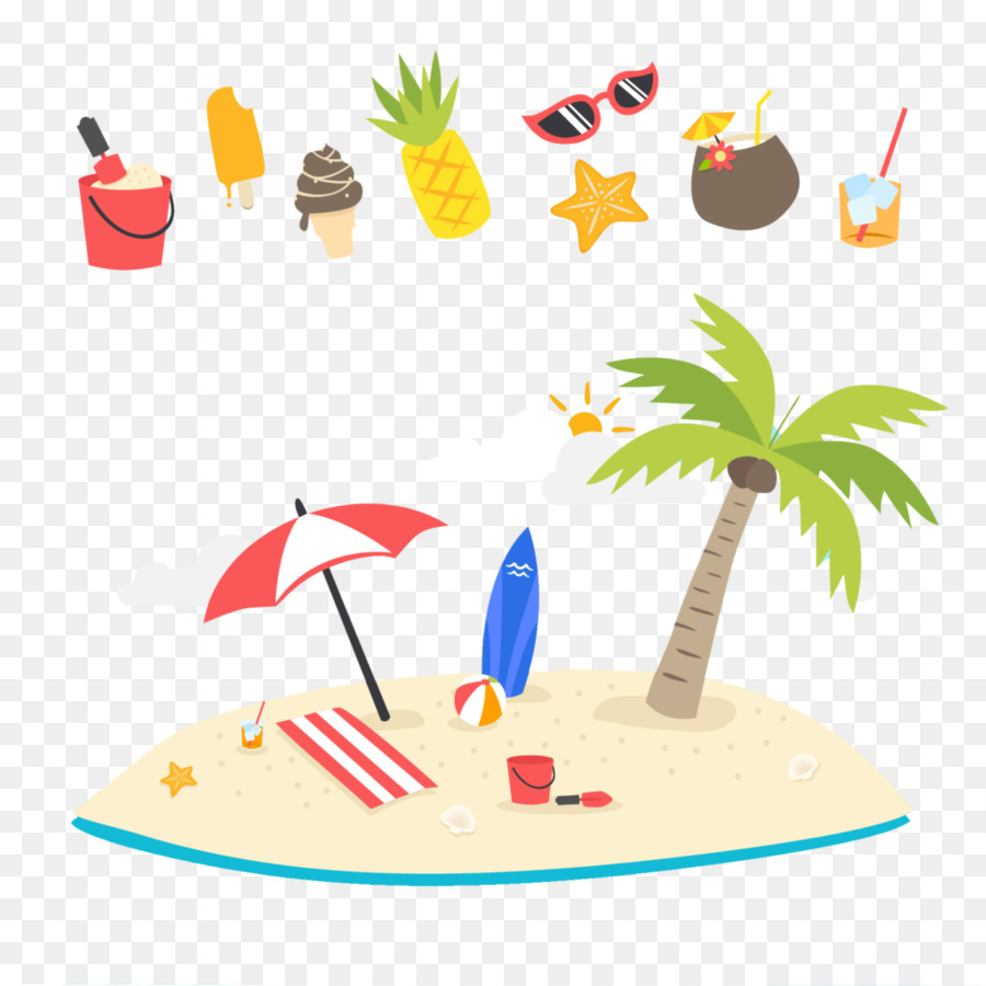 hight resolution of summer beach png clipart beach