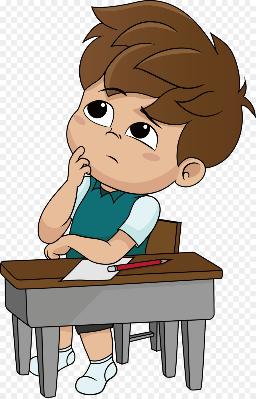 hight resolution of boy thinking clipart