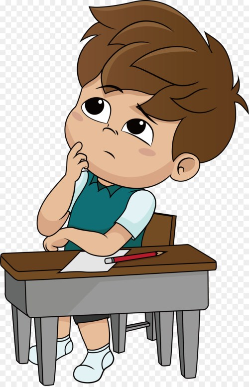 small resolution of boy thinking clipart