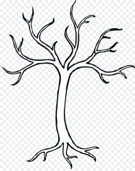 Black And White Flower clipart Tree Drawing Plant transparent clip art
