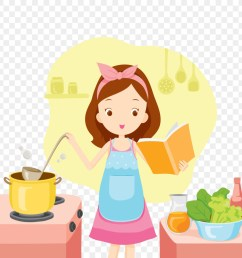 illustration girl cooking clipart cooking [ 900 x 900 Pixel ]