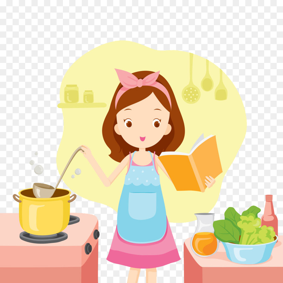 hight resolution of illustration girl cooking clipart cooking