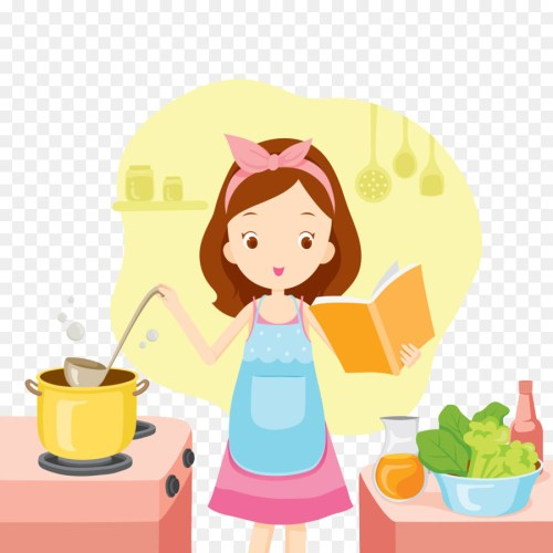 small resolution of illustration girl cooking clipart cooking
