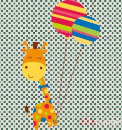birthday giraffe clipart giraffe greeting note cards [ 900 x 900 Pixel ]