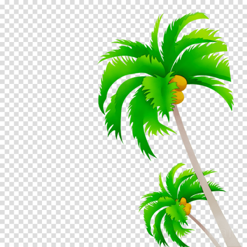 small resolution of free vector palm tree clipart coconut palm trees