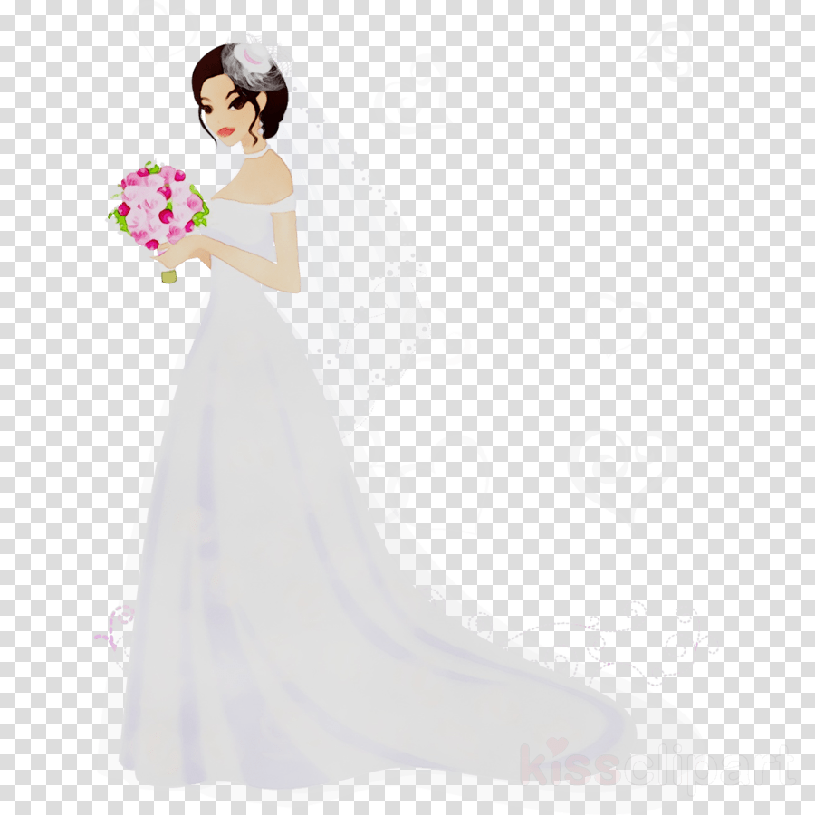 medium resolution of gown clipart bride wedding dress wedding invitation