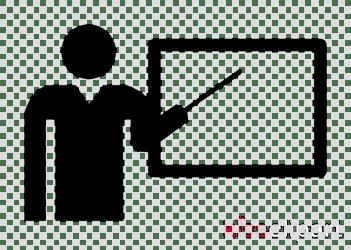 teacher clipart icon teaching transparent teachers education study clip symbol silhouette square classroom rectangle diagram line kissclipart