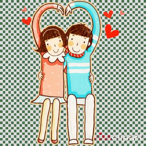 small resolution of friendship clip art gift illustration love