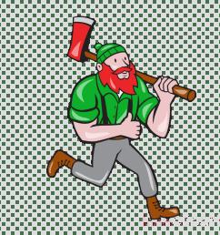 paul bunyan lumberjack vector graphics stock illustration [ 900 x 900 Pixel ]