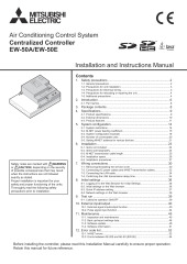 EW-50E Installation Manual and Instruction book