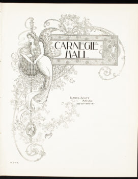 carnegie hall archives coloring book - Art Nouveau Coloring Book