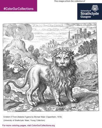 Strathclyde_lion_colouring sheet
