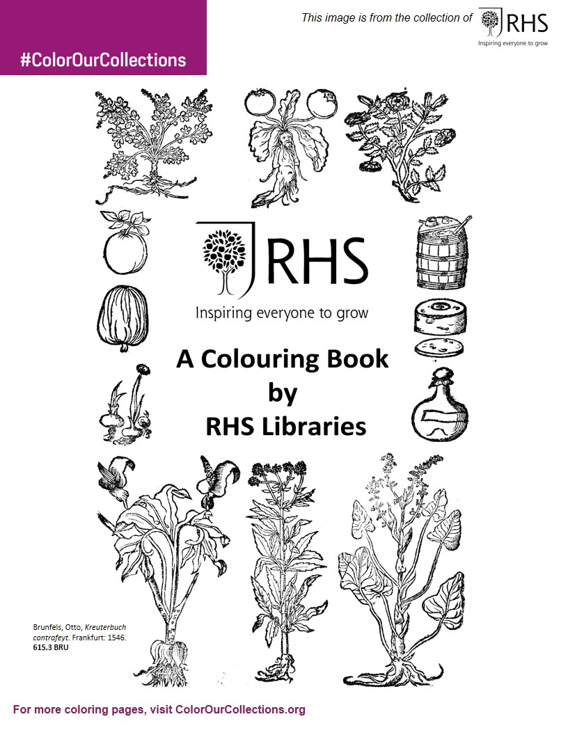 Royal Horticultural Society Libraries Coloring Book 2019 Color