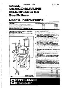 Boiler Manuals: Ideal Mexico Slimline RS 55 Products