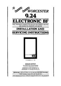Boiler Manuals: Worcester 9.24 BF Electronic