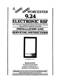 Boiler Manuals: Worcester 9.24 RSF Electronic