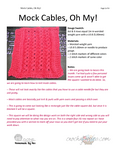 KNIT Mock Cables Oh My!