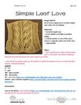 KNIT Simple Leaf Love