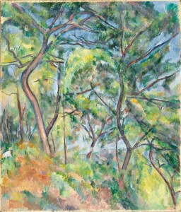 Sous-Bois by Paul Cezanne, courtesy of the LACMA digital collection