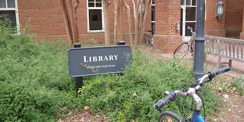 library exterior sign