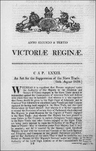 act for suppression of the slave trade