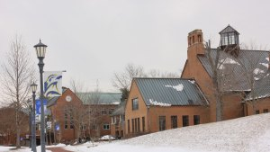 Campus Center in the Snow