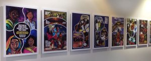 Priya's Skakti panels installed in library