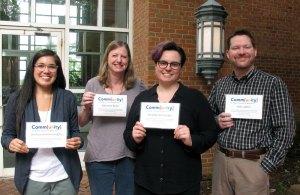 library employee comm[unity] graduates