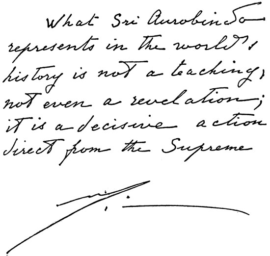 Image result for Sri Aurobindo... an Action straight from the Supreme (The Mother)