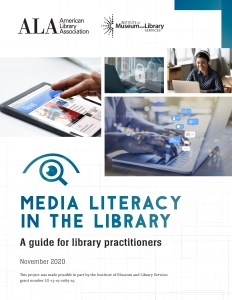 Cover image of Media Literacy in the Library document