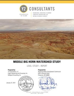 Document cover: Middle Big Horn Watershed Study