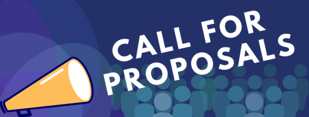 Cartoon megaphone with text CALL FOR PROPOSALS
