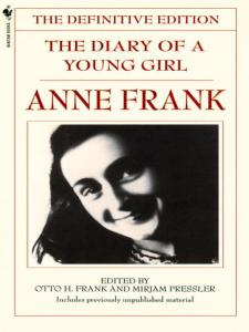 Book cover: The Diary of a Young Girl by Anne Frank
