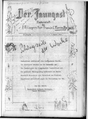Front page of a German POW camp newspaper