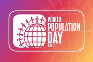 """Graphic reads """"World Population Day, July 11"""""""