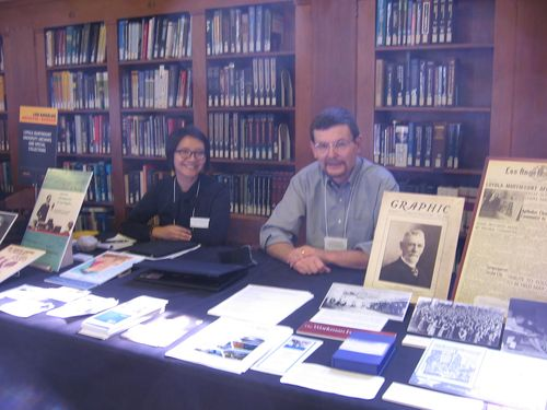 Rachel & Clay at LA Archives Bazaar