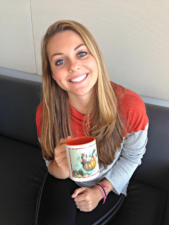 Kim with mug small
