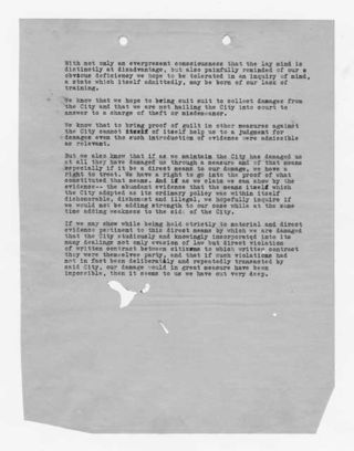 Big Pine reparation claim document