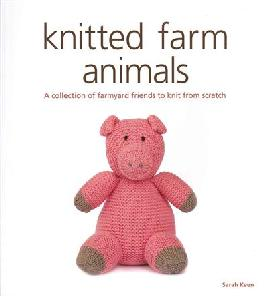 Cover of Knitted farm animals.