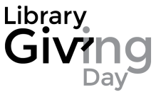 Library Giving Day stacked b&w logo