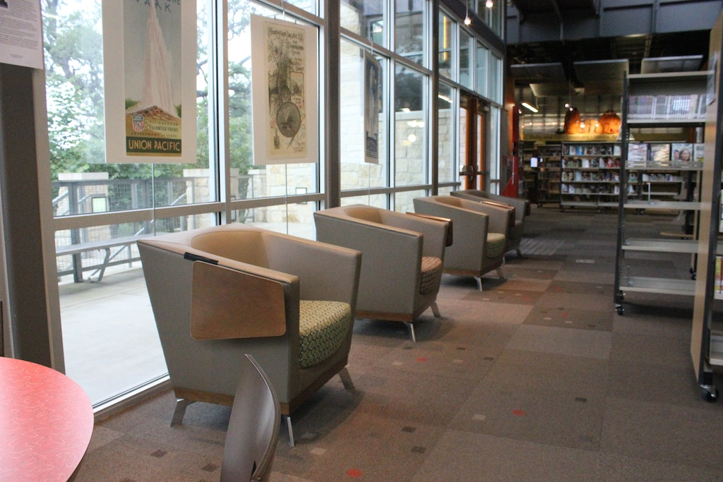 Arcadia Achella Lounge Chairs with Tablet Arms  Library