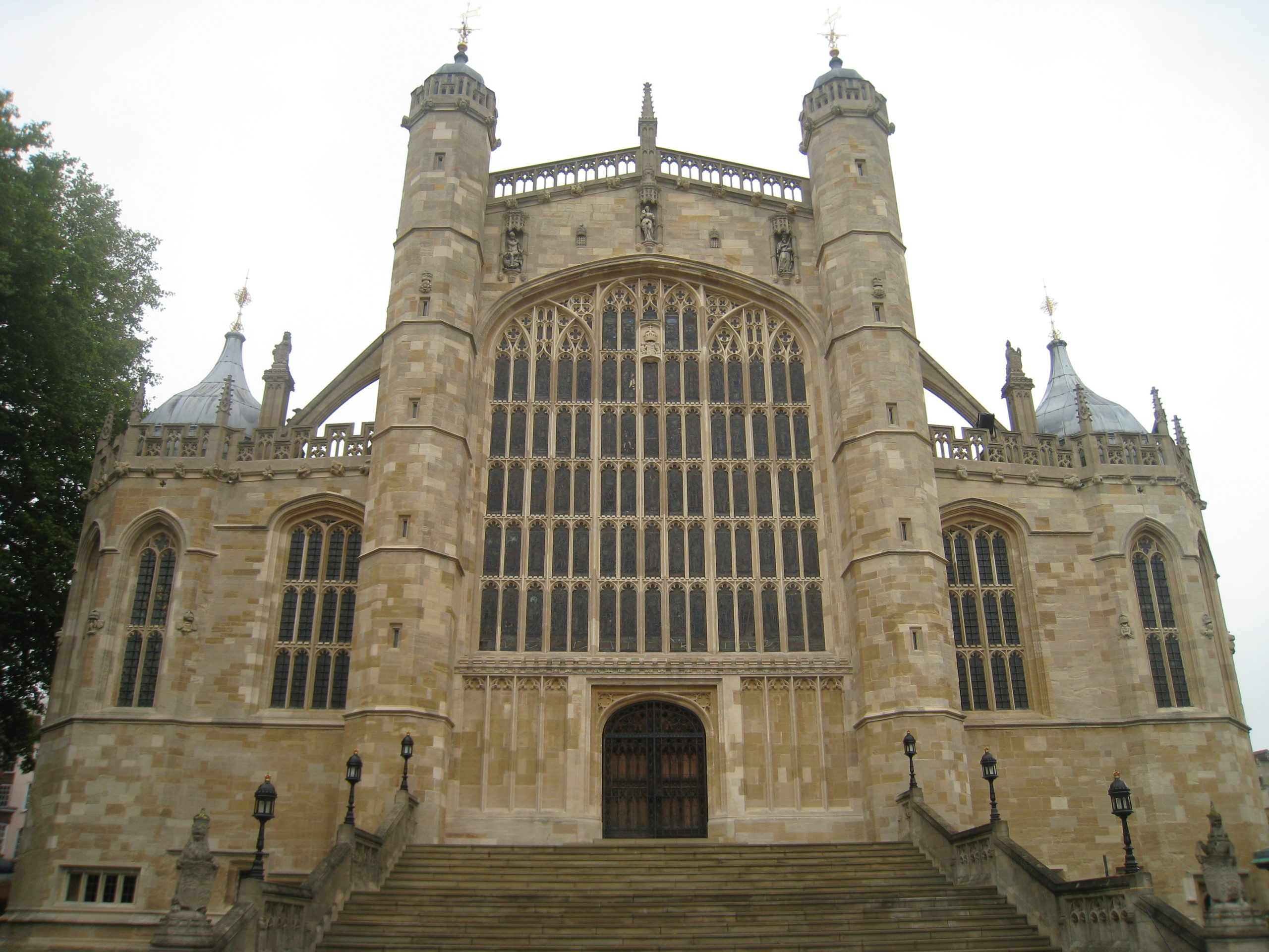 Exterior of Saint George's Chapel at Windsor Castle. Photo by Michael Madrinkian.