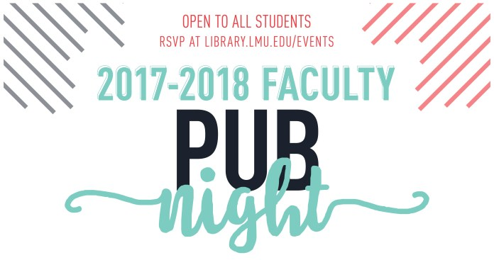 Faculty Pub Night 2017-2018 logo