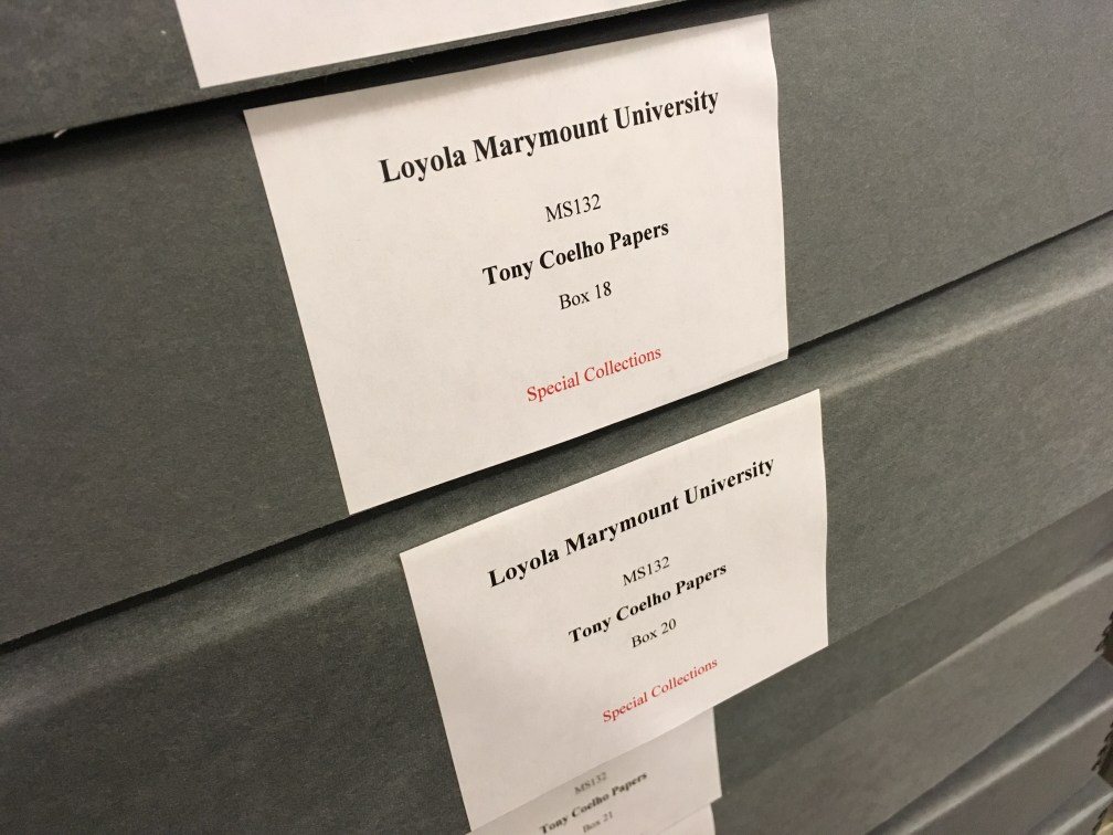 Boxes of Coelho papers