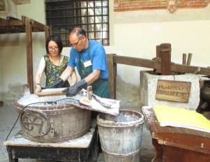 Rachel Wen-Paloutzian at Fabriano Papermaking Museum
