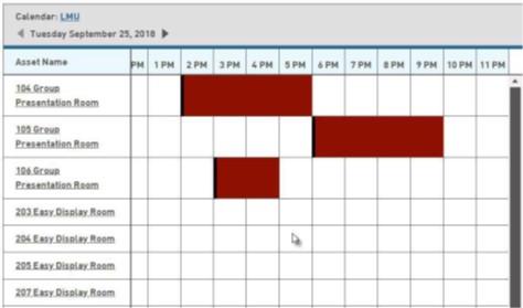 study room calendar
