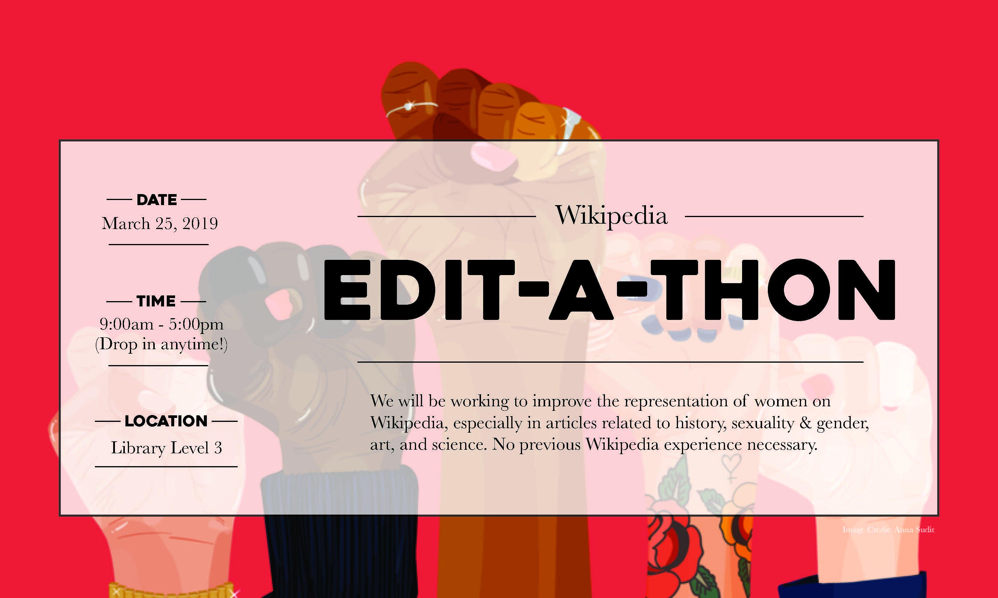 Wikipedia edit-a-thon banner