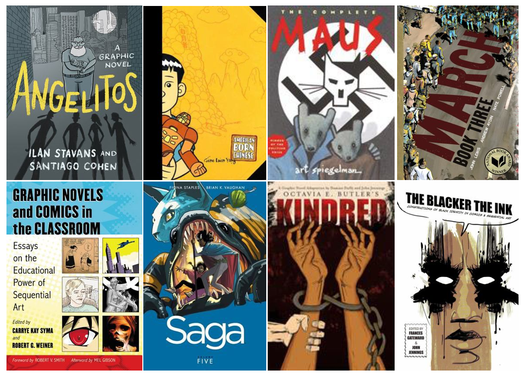 Cover images of graphic novels