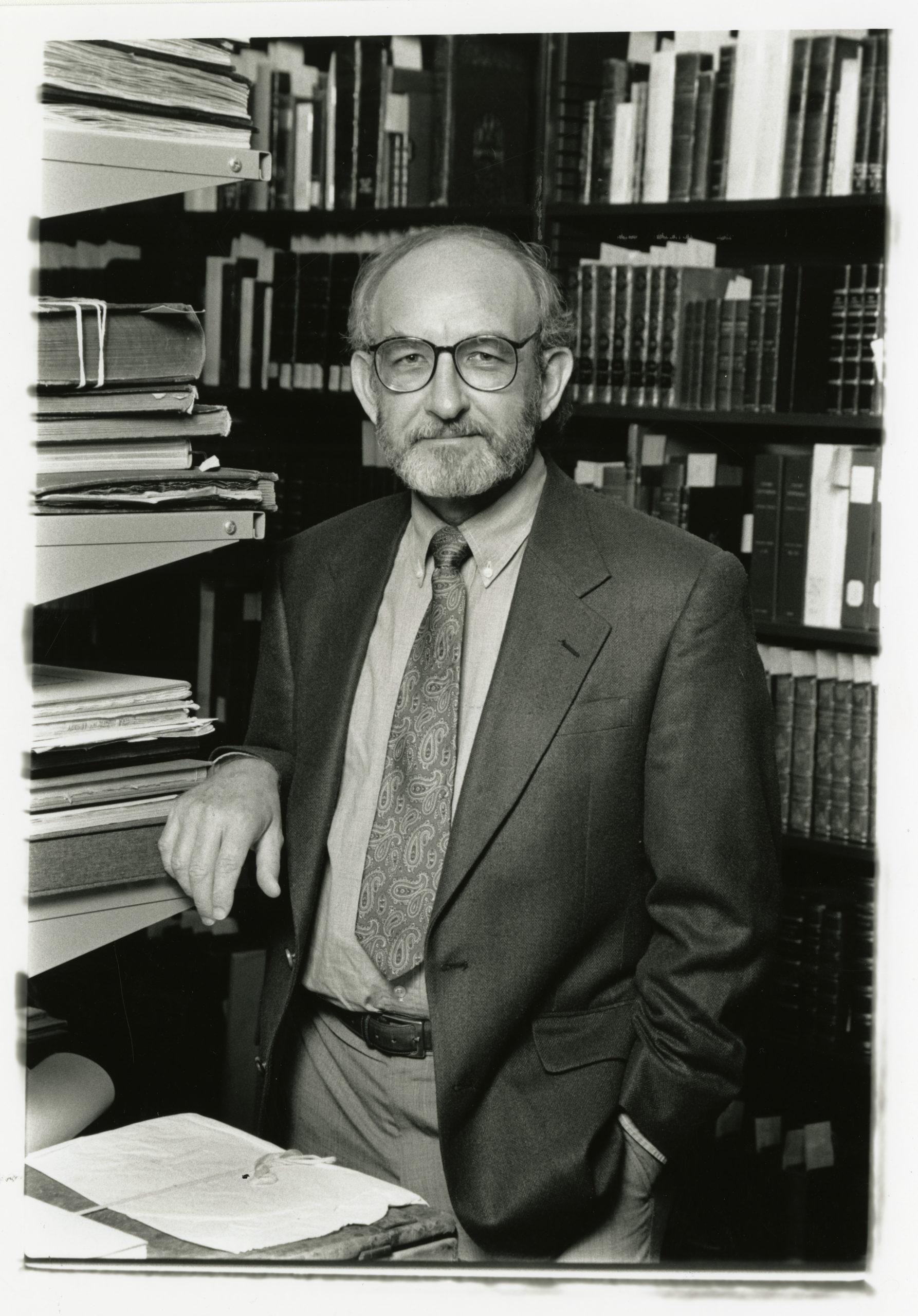 Errol Stevens in Rare Book Vault